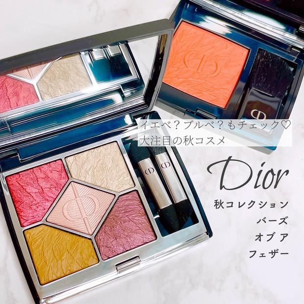 【Dior秋コスメ】美しすぎる羽のデザイン♡アイシャドウのカラーも徹底チェック【イエベ?ブルベ?】