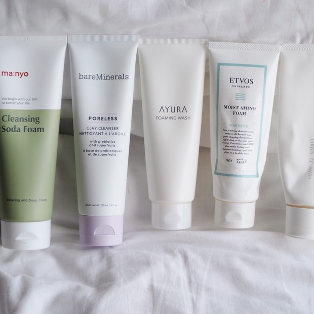 【洗顔フォーム5種比較】お肌に優しい?洗浄力のある?どれが好き??『前半』