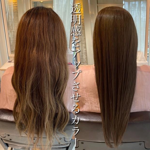 【ニューヘア】透明感カラーでメイク映え!生まれ変わった新ヘアースタイル