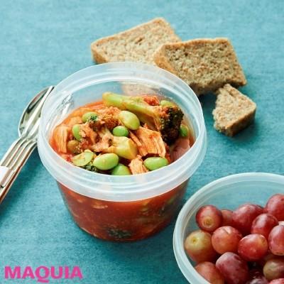 【美容スープレシピ】コンビニ食材だけで作れて、栄養も満点「サラダチキンのトマトスープ」