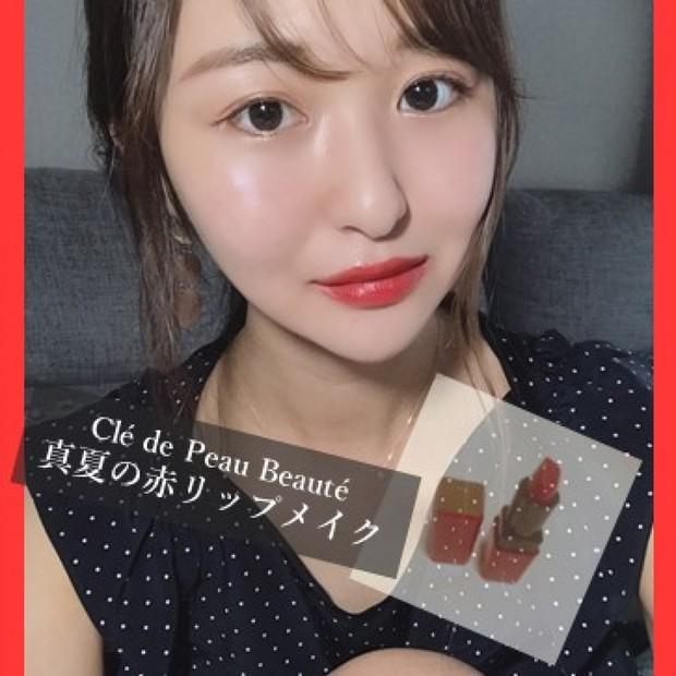 クレドポー限定新作リップレビュー♡真夏の赤リップメイク【オンライン映え】くどくない赤リップメイクとは?
