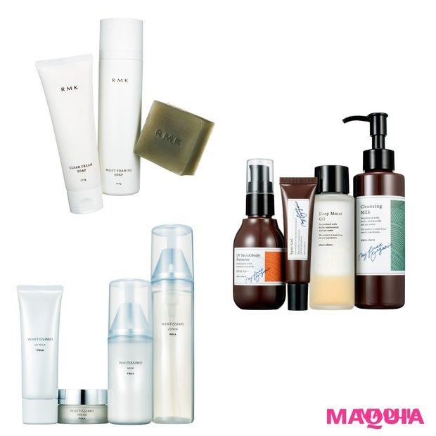 【おすすめ新作】汚れは落として潤いキープ「洗顔料」と、肌の透明感を高める「美白アイテム」