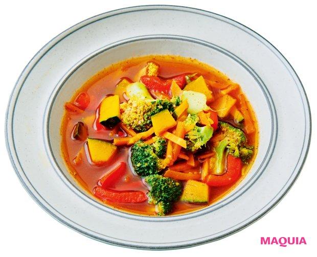 かぼちゃとブロッコリーのオイスターソーススープ