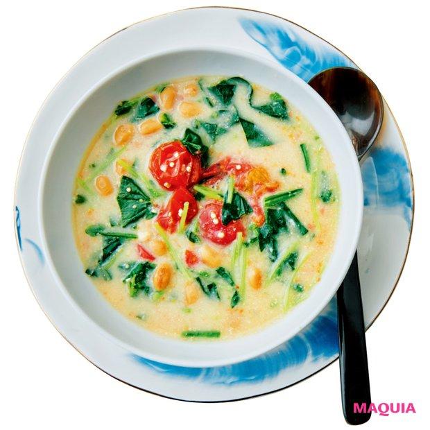 納豆と酒粕のスープ