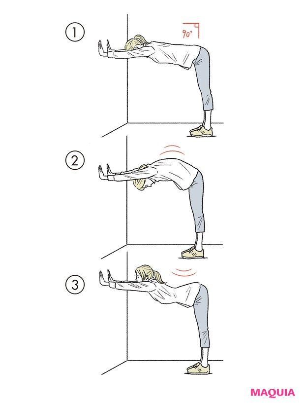 壁を使った「腰ストレッチ」のやり方
