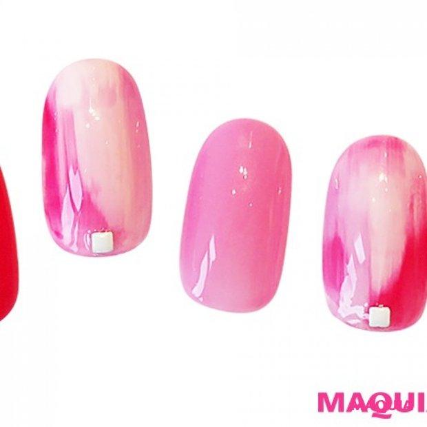 ビビットピンクで女子力UP♪ 恋を引き寄せるモテ色ピンクネイル