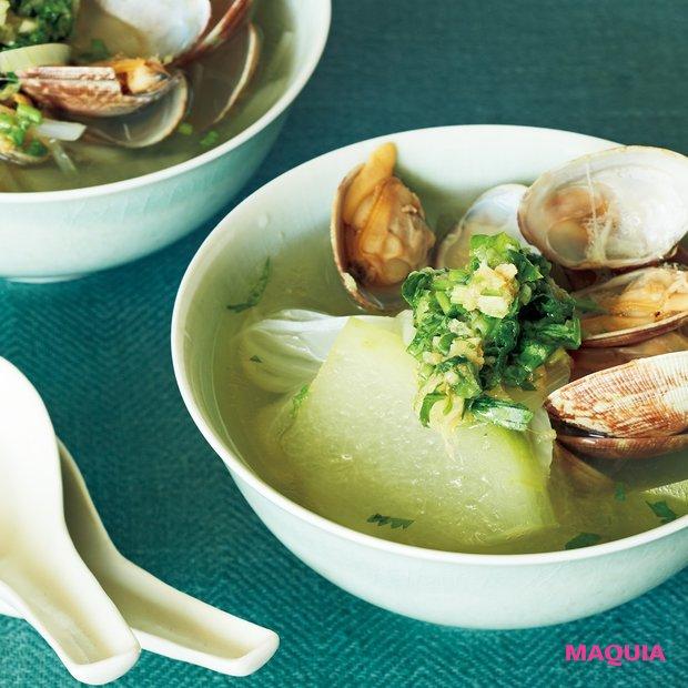 冬瓜とアサリのスープ