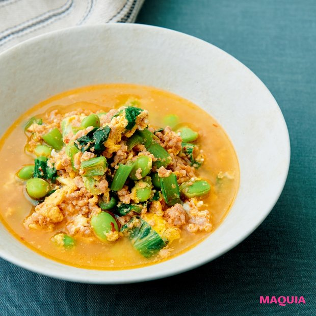 貧血・冷え・疲れの予防に! Atsushiさんのレンチン美容スープレシピ
