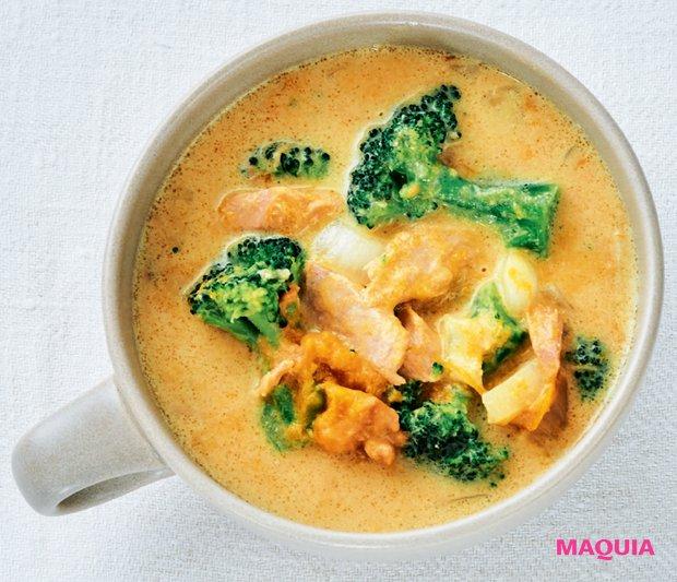豆乳味噌きな粉スープ