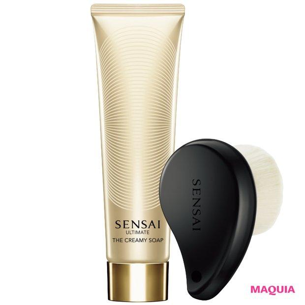 SENSAI UTM ザ クリーミィソープ (オリジナル洗顔ブラシ付き)