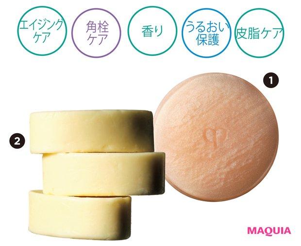❶100g ¥12100/クレ・ド・ポー ボーテ ❷65g ¥3740/ピー・エス・インターナショナル