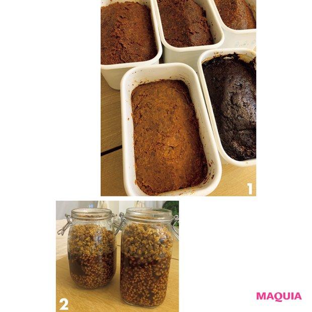 1「味噌は毎日の味噌汁用とオフィス用に10kg以上作ります」。2 手作り醤は料理のコク出しなどに。