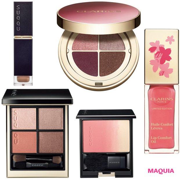 「SUQQU」の人気パレットがリニューアル! 桜カラーの「クラランス」も必見