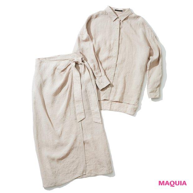 リネン 2wayシャツ ¥11000、リネンスカート ¥15000/エレメントルールカスタマーサービス(バンヤードストーム)