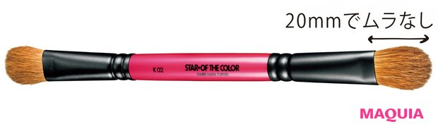 star of the color アイカラーダブルブラシ K02 ¥9240
