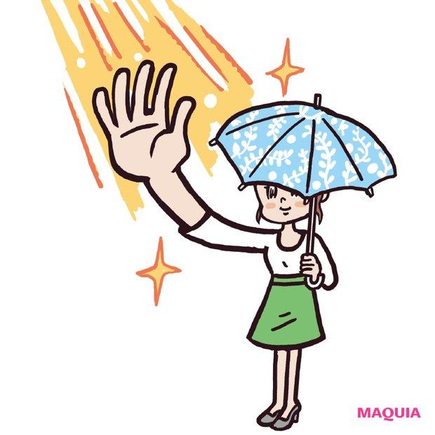朝起きたら手の平に太陽の光を当てる