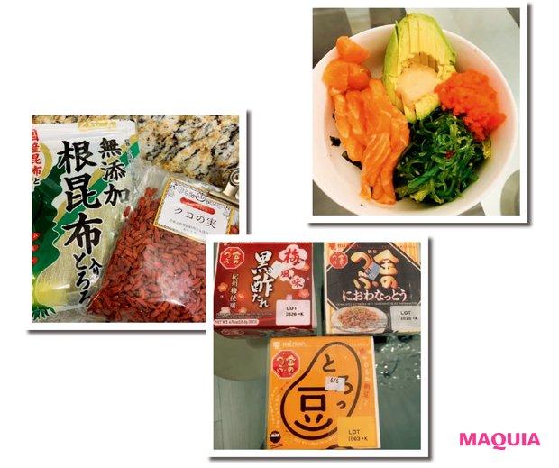 自宅では日本食やサラダなどヘルシーな食事が中心