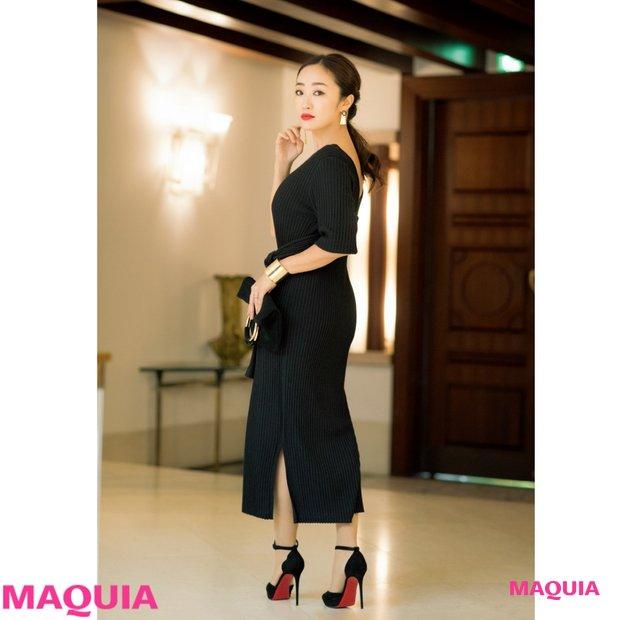レセプションパーティ、何着てく? ドレスの黒×メイクの赤で効かせる神崎恵流・恋の魔法