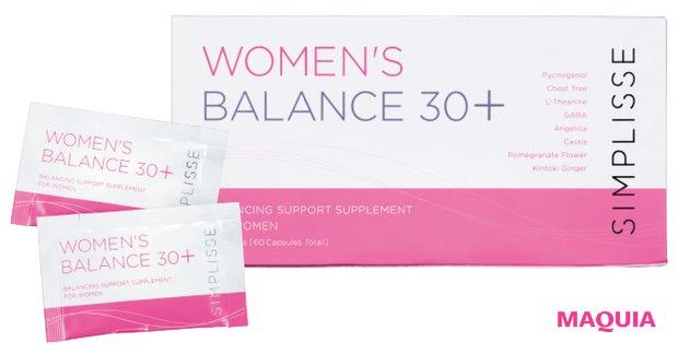 女性の悩みに働きかける。ウィメンズバランス 30+ 2粒×30袋(30日分) ¥12600/シンプリス