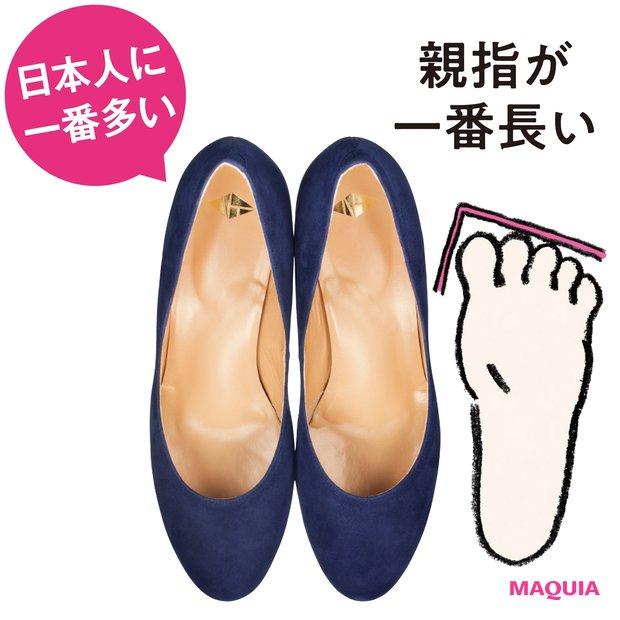 足指を優しく包み込むラウンド設計で負荷がかかりにくい。足裏クッションも高さ十分で安定。パンプス ¥25000/NT