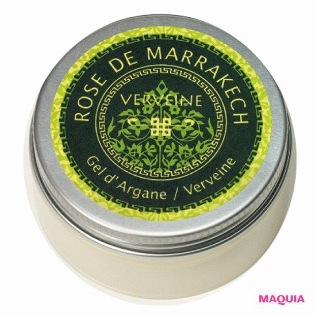アルガンオイルを70%以上配合。手足や唇、髪の保湿に。ジェル ド ヴェルウェーン 40g ¥2400/ローズ ド マラケシュ
