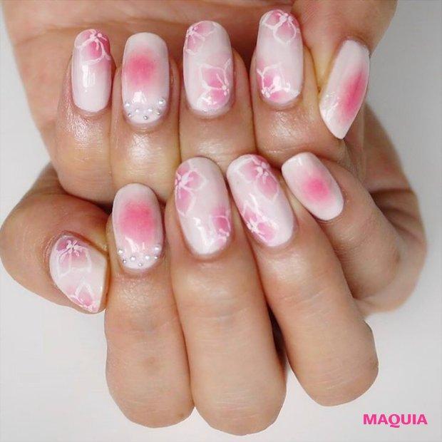 濃淡ピンクが可愛い♪ 春満開フラワーネイル【ギ☆のセルフネイル手本帖】