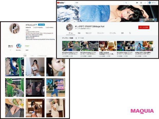 インスタ(@shibuya_yuri)のフォロワー数は115万人を超える