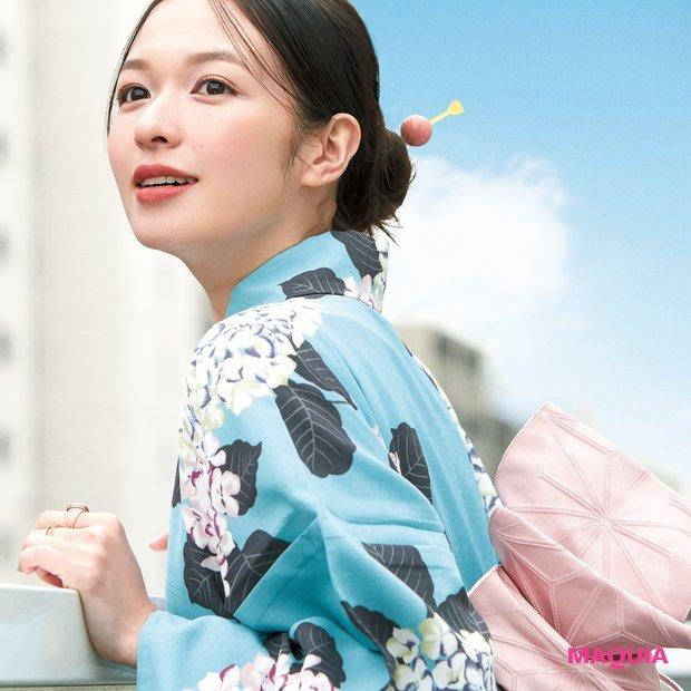 森 絵梨佳さんの浴衣メイク! ピンク×グリーンで涼しげに、軽やかに_1