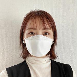 リップが付きにくい韓国製マスク_着用写真_正面