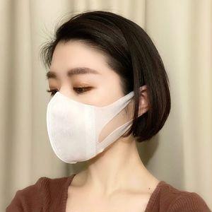 唇にあたらない不織布立体マスク3選_ユニチャーム ソフトーク 超立体マスク_着用写真