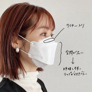 リップが付きにくい韓国製マスク_立体構造のおかげで口周りの空間が広い!